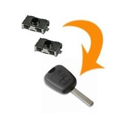 2 X Switch clé Peugeot 107