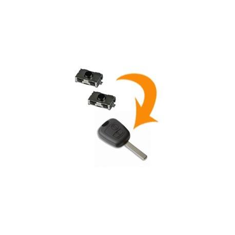 2 X Switch clé Peugeot 207