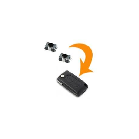 2 X Switch clé Peugeot 207 307 308 407