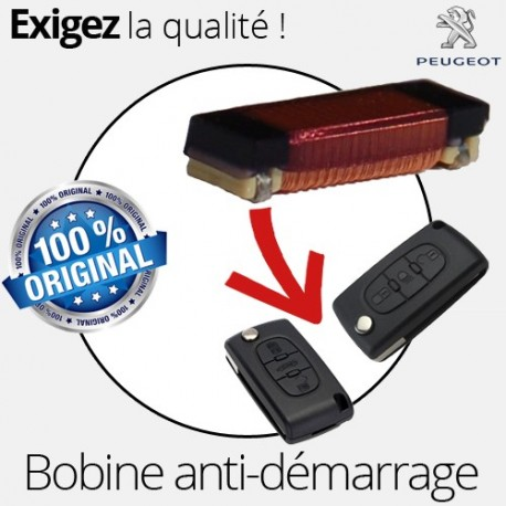 Bobine clé anti-démarrage clé pliante Peugeot