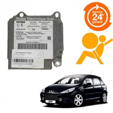 Réparation calculateur airbag Peugeot 307 5WK42908, 9645840780, 9635784280